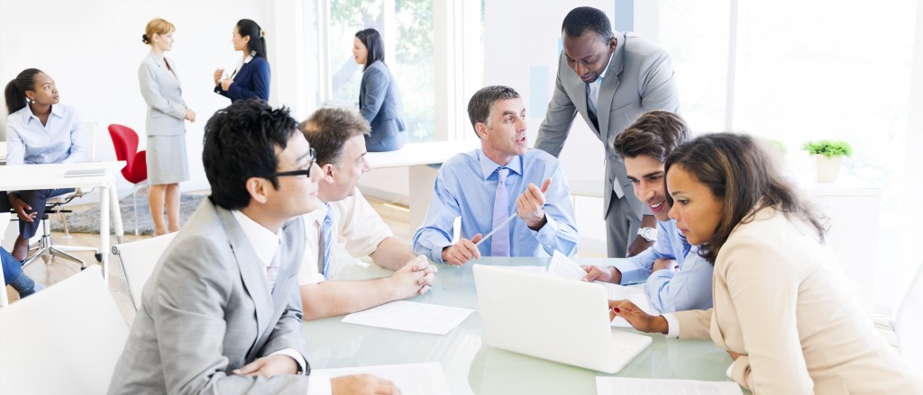 Group of Multi Ethnic Business People Having a Meeting